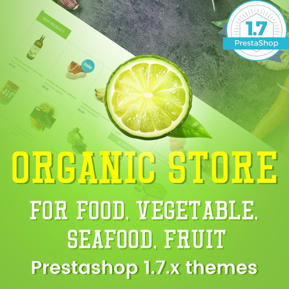 theme - Alimentos & Restaurantes - Organic Food, Drinks, Fruit Store - 1