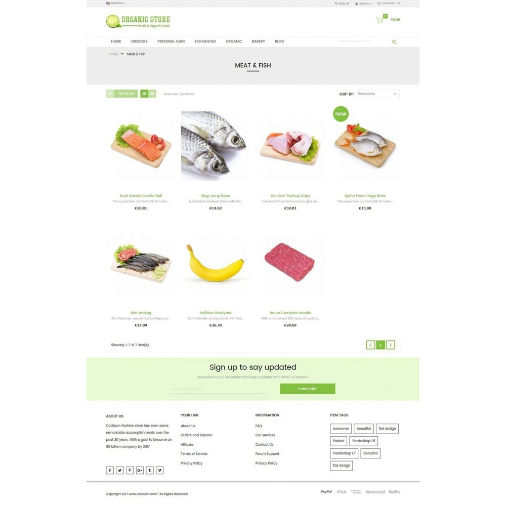 theme - Alimentos & Restaurantes - Organic Food, Drinks, Fruit Store - 3