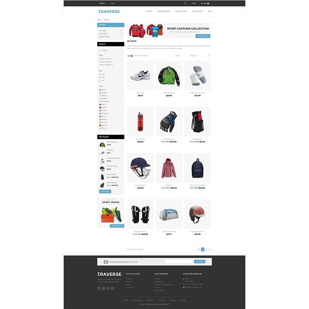 theme - Sports, Activities & Travel - Traverse Store - 3
