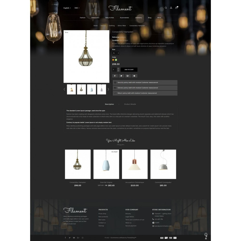 theme - Home & Garden - Filament - Lighting Store - 5