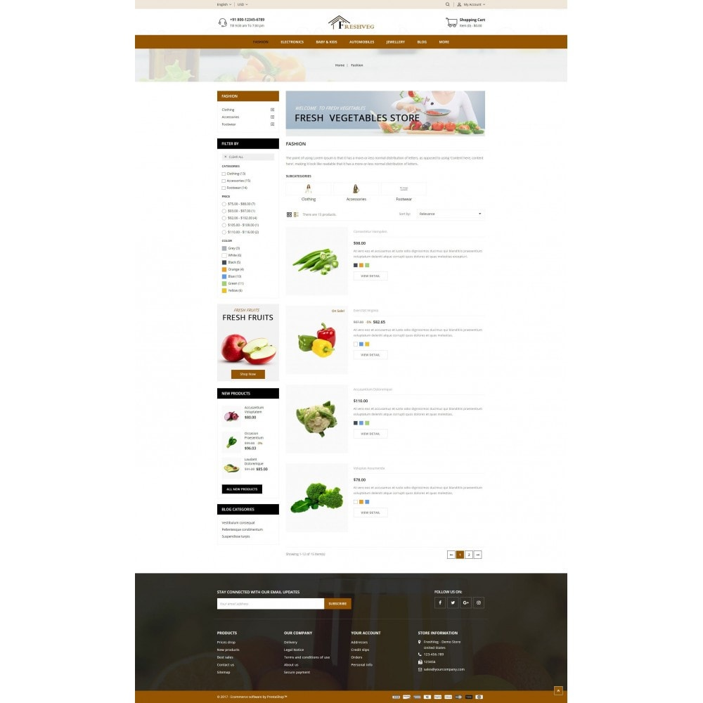 theme - Cibo & Ristorazione - Fresh Vegetable Shop - 4