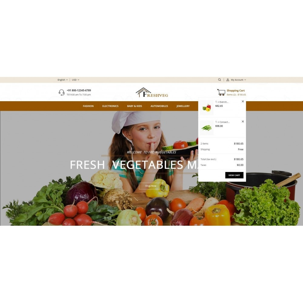 theme - Eten & Restaurant - Fresh Vegetable Shop - 8