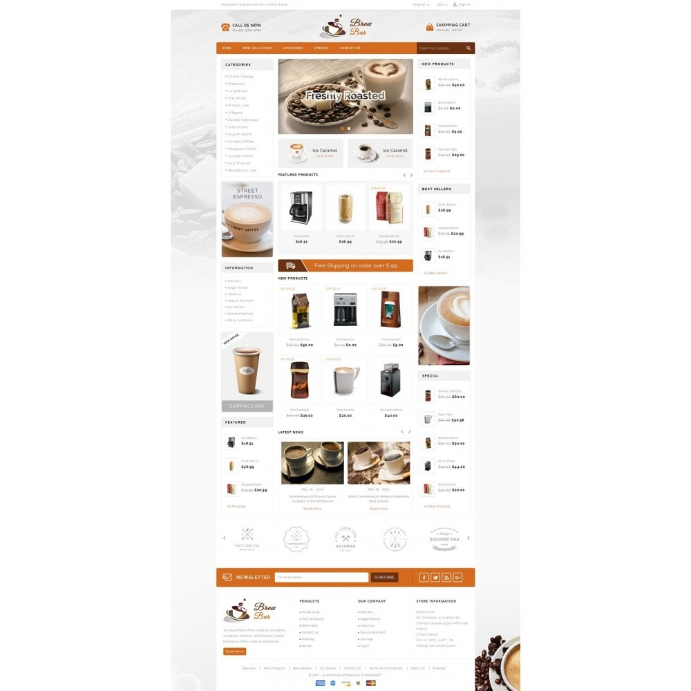 theme - Alimentos & Restaurantes - Brew Bar - Coffee Store - 2