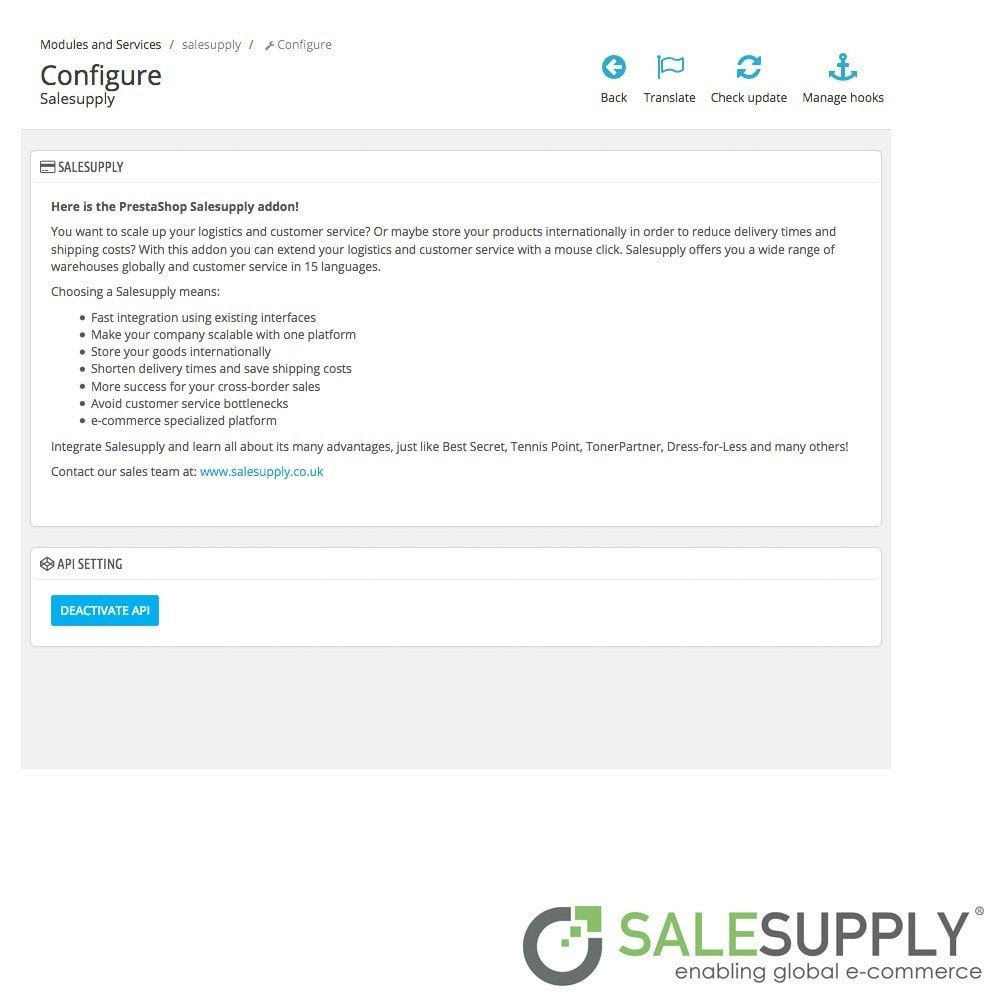 module - Customer Service - Salesupply - 2
