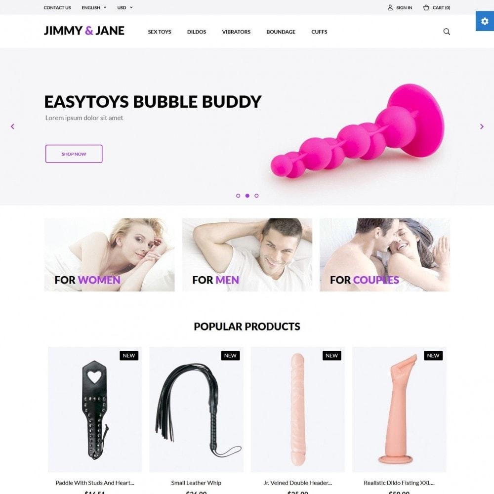 theme - Lingerie & Adult - Jimmy&Jane - SexShop - 2