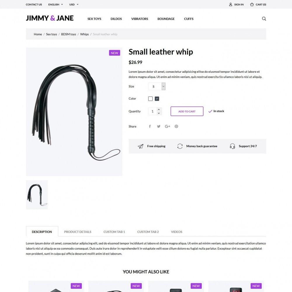 theme - Нижнее белье и товары для взрослых - Jimmy&Jane - SexShop - 12
