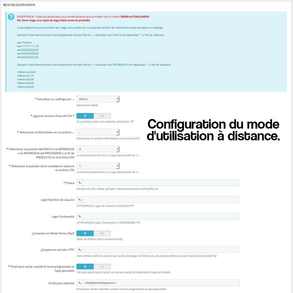 module - Edition rapide & Edition de masse - Processus de mise à jour massive du stock - 12