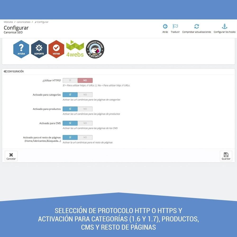 module - URL y Redirecciones - Canonical SEO - 2