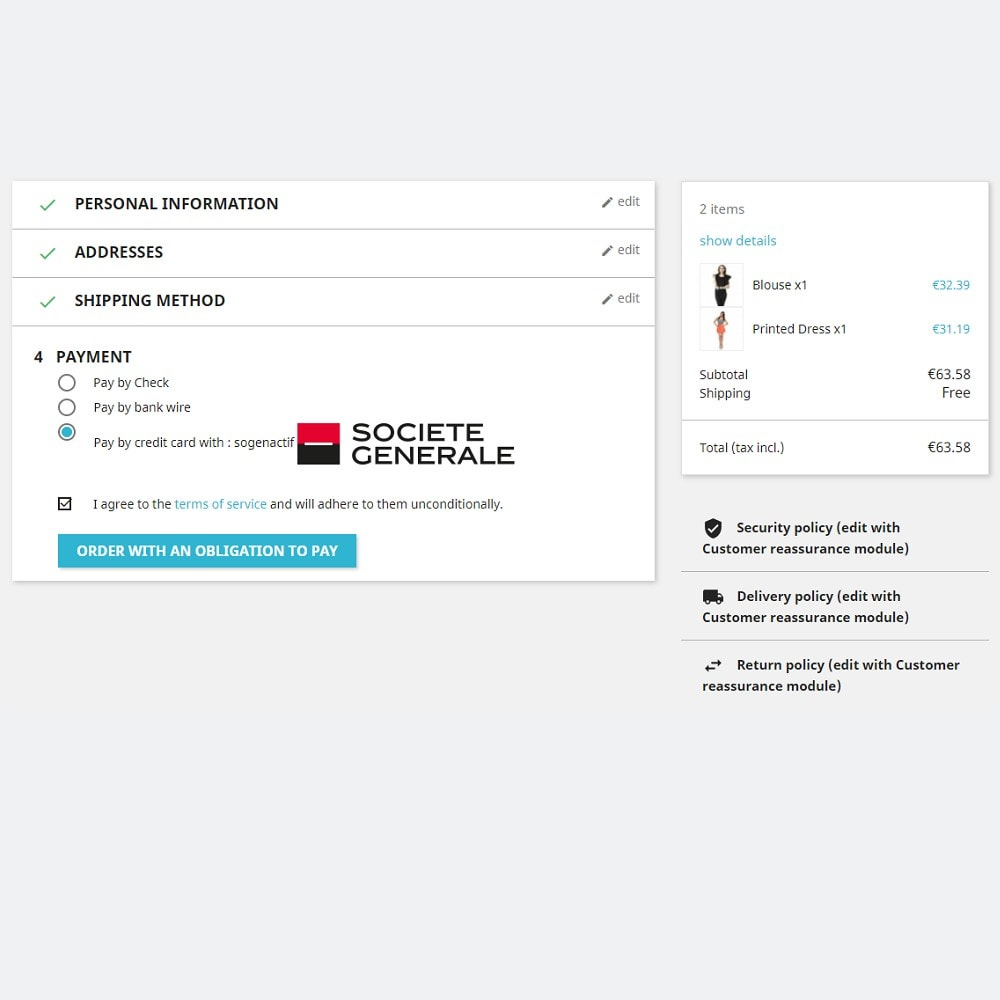 module - Pagamento por cartão ou por carteira - Sogenactif 2.0 - Société Générale Atos Sips Worldline - 2