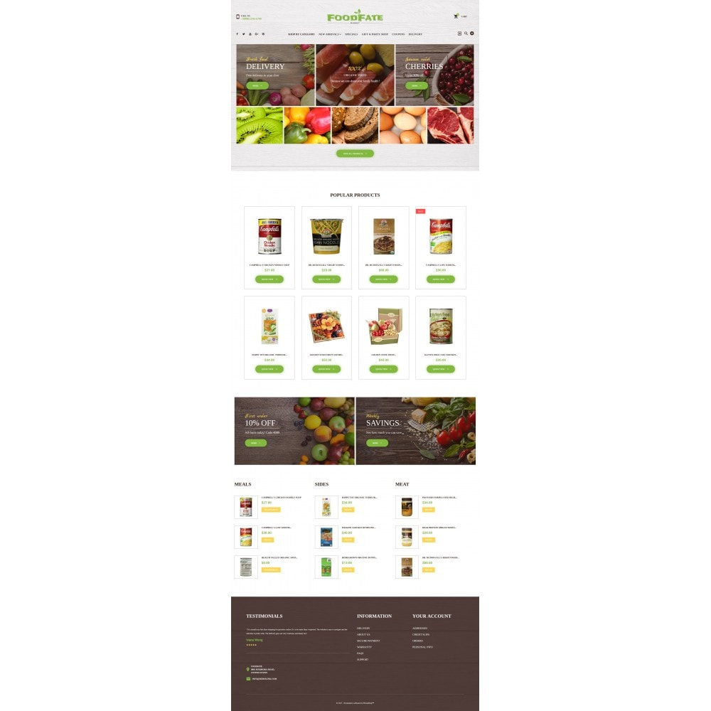 theme - Food & Restaurant - FoodFate - Supermarket - 4