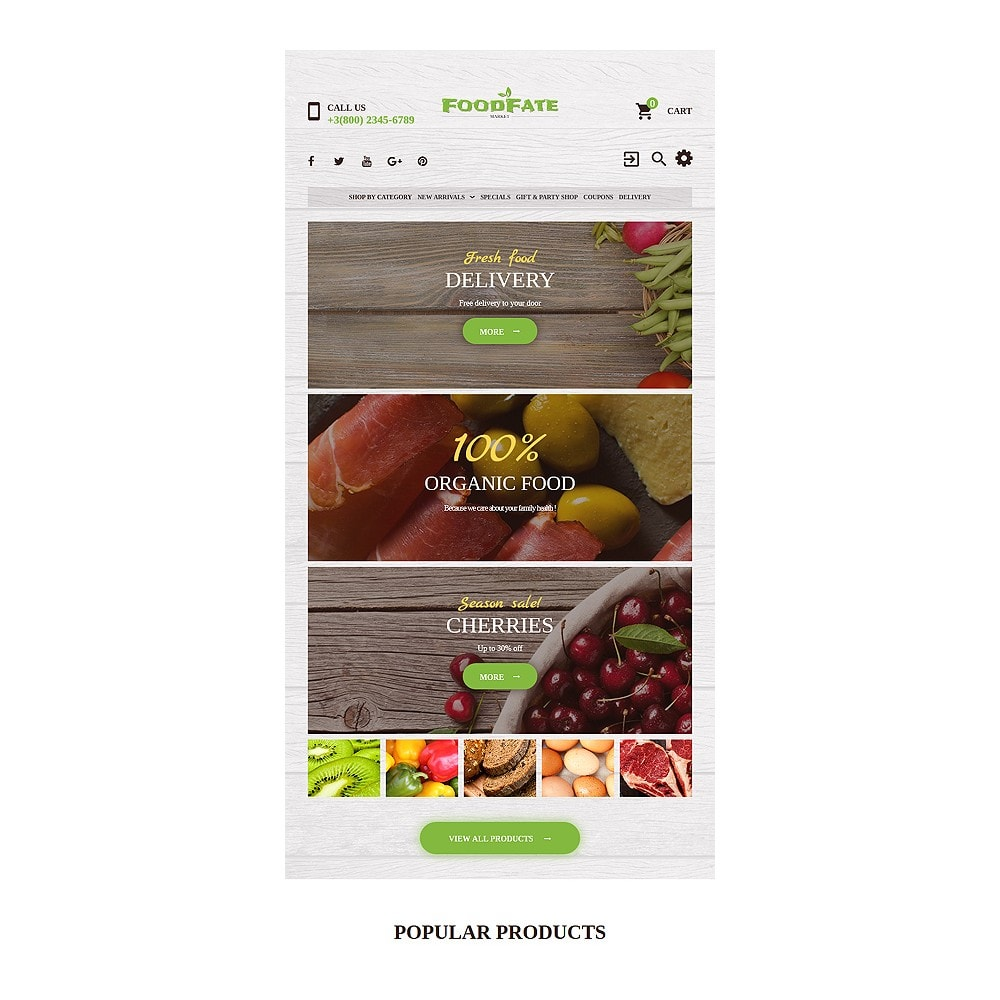 theme - Food & Restaurant - FoodFate - Supermarket - 7