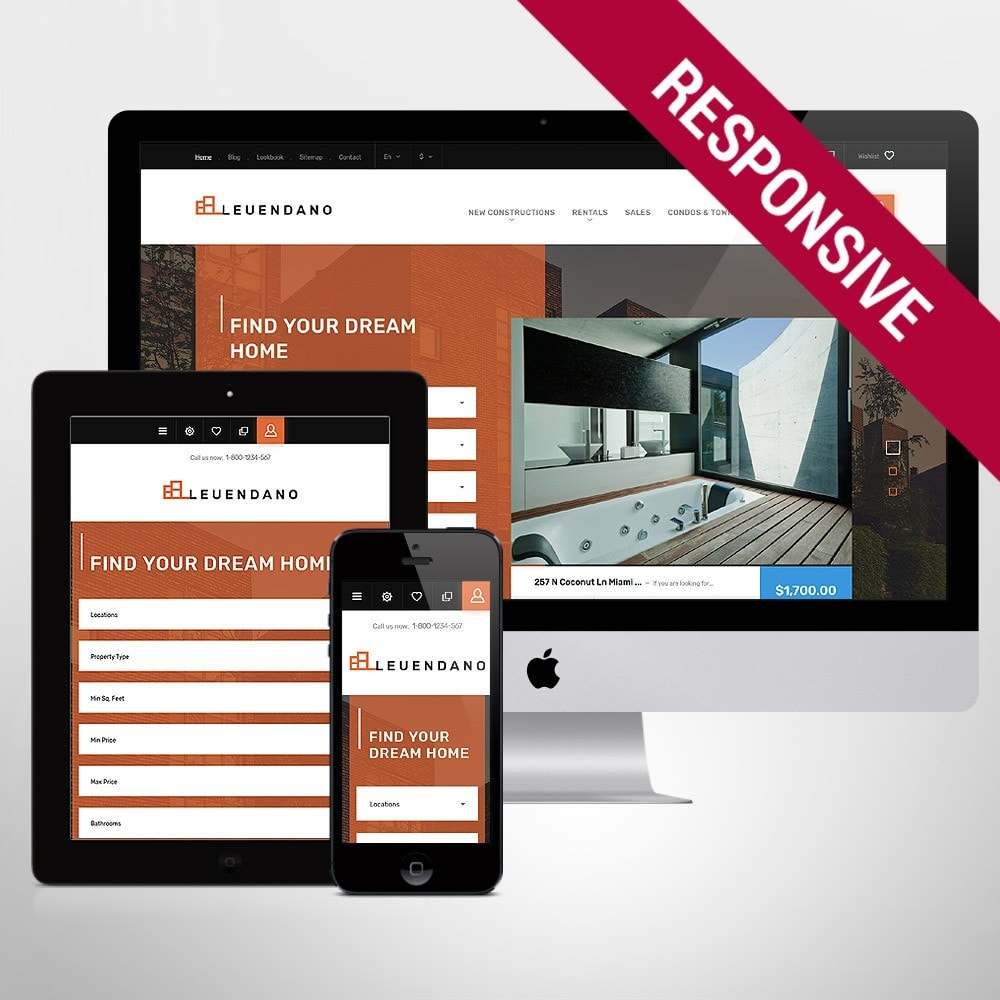 theme - Дом и сад - Leuendano - Real Estate Agency Responsive - 1
