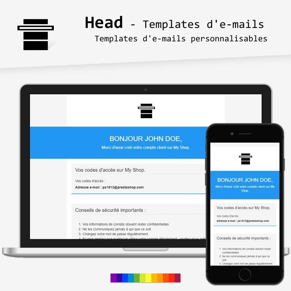 email - Templates d'e-mails PrestaShop - Head - templates d'e-mails - 1