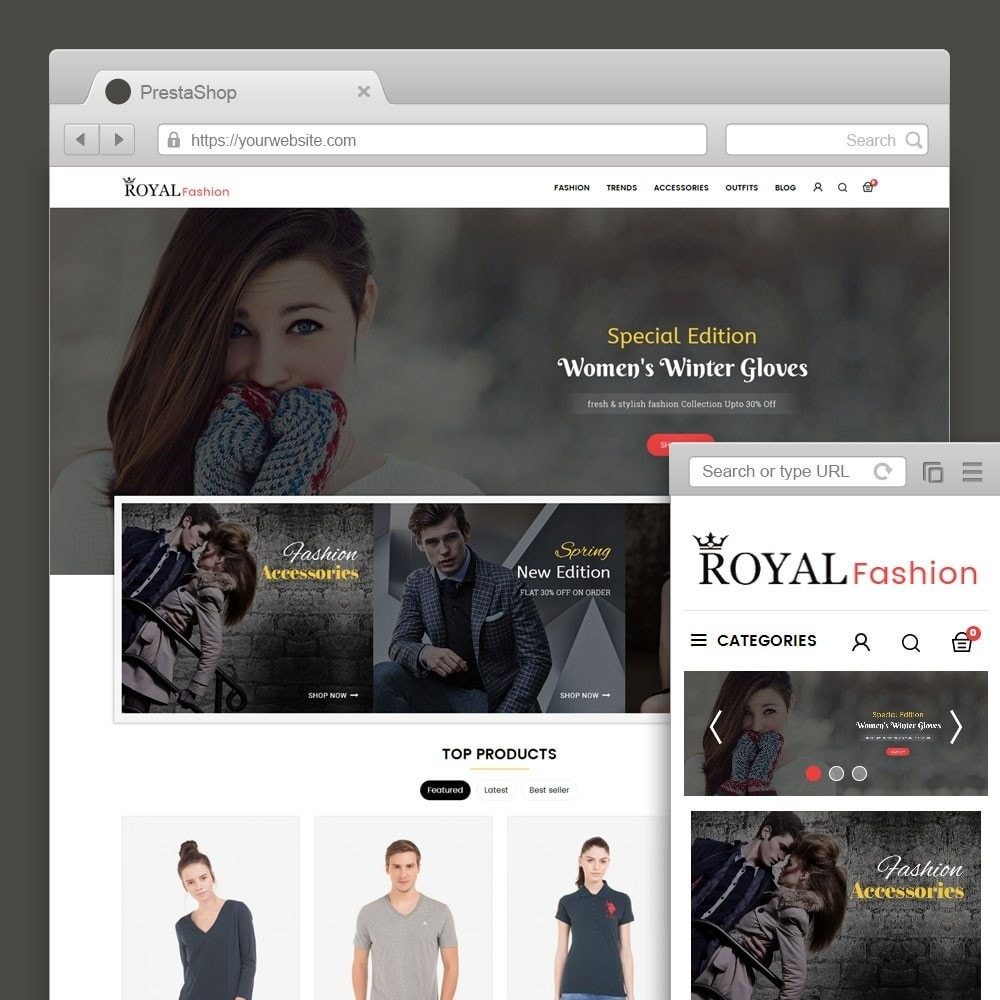 theme - Мода и обувь - Royal Fashion Store - 1