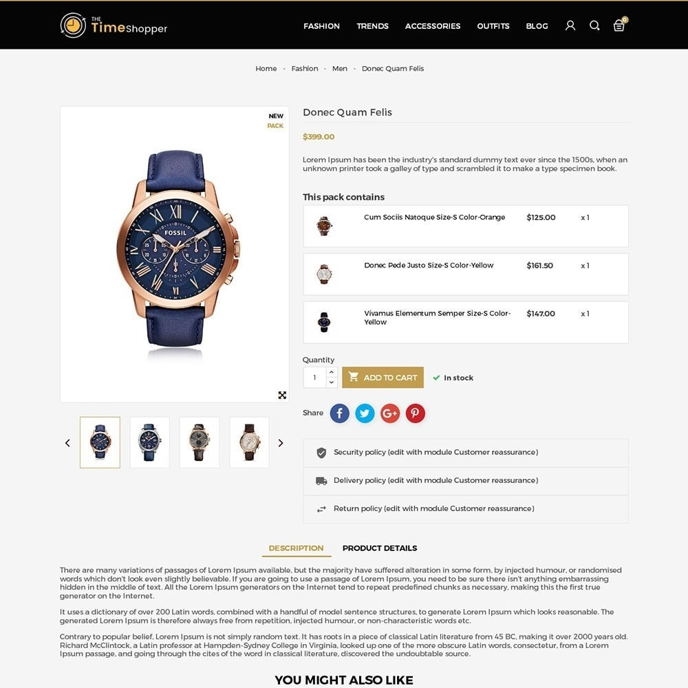 theme - Bijoux & Accessoires - Time Shopper Watch Store - 5