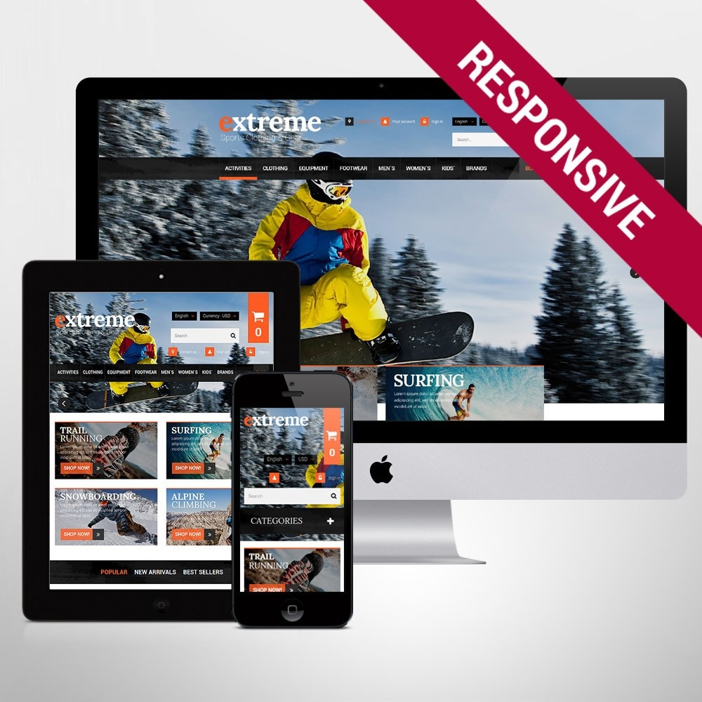 theme - Sports, Activities & Travel - Extreme Clothes & Gear - 1