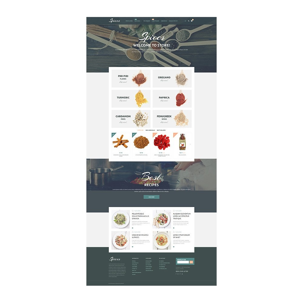 theme - Alimentation & Restauration - Spice Shop - 1