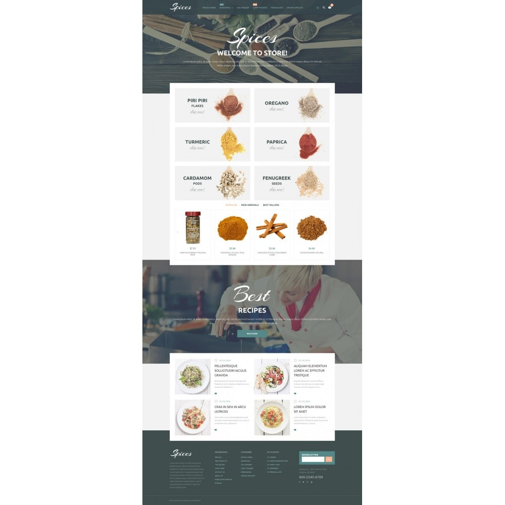 theme - Alimentation & Restauration - Spice Shop - 2