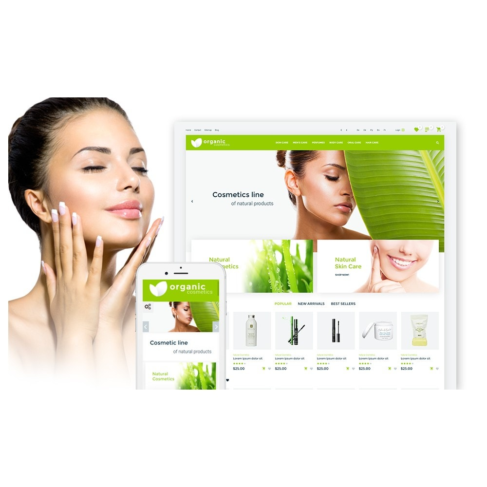 theme - Moda y Calzado - Organic cosmetics - responsive - 2