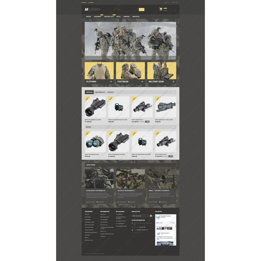 theme - Thèmes PrestaShop - Military - 5