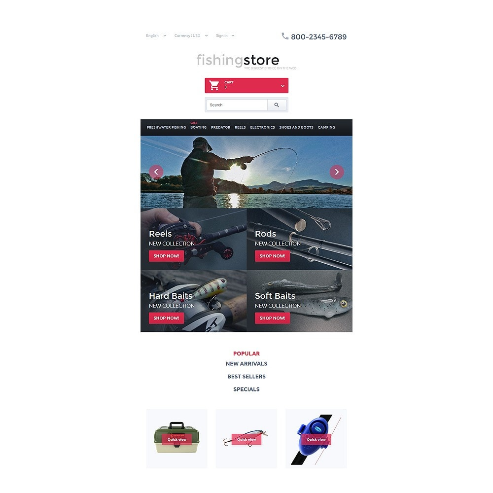 theme - Sports, Activities & Travel - Fishing Store - 7