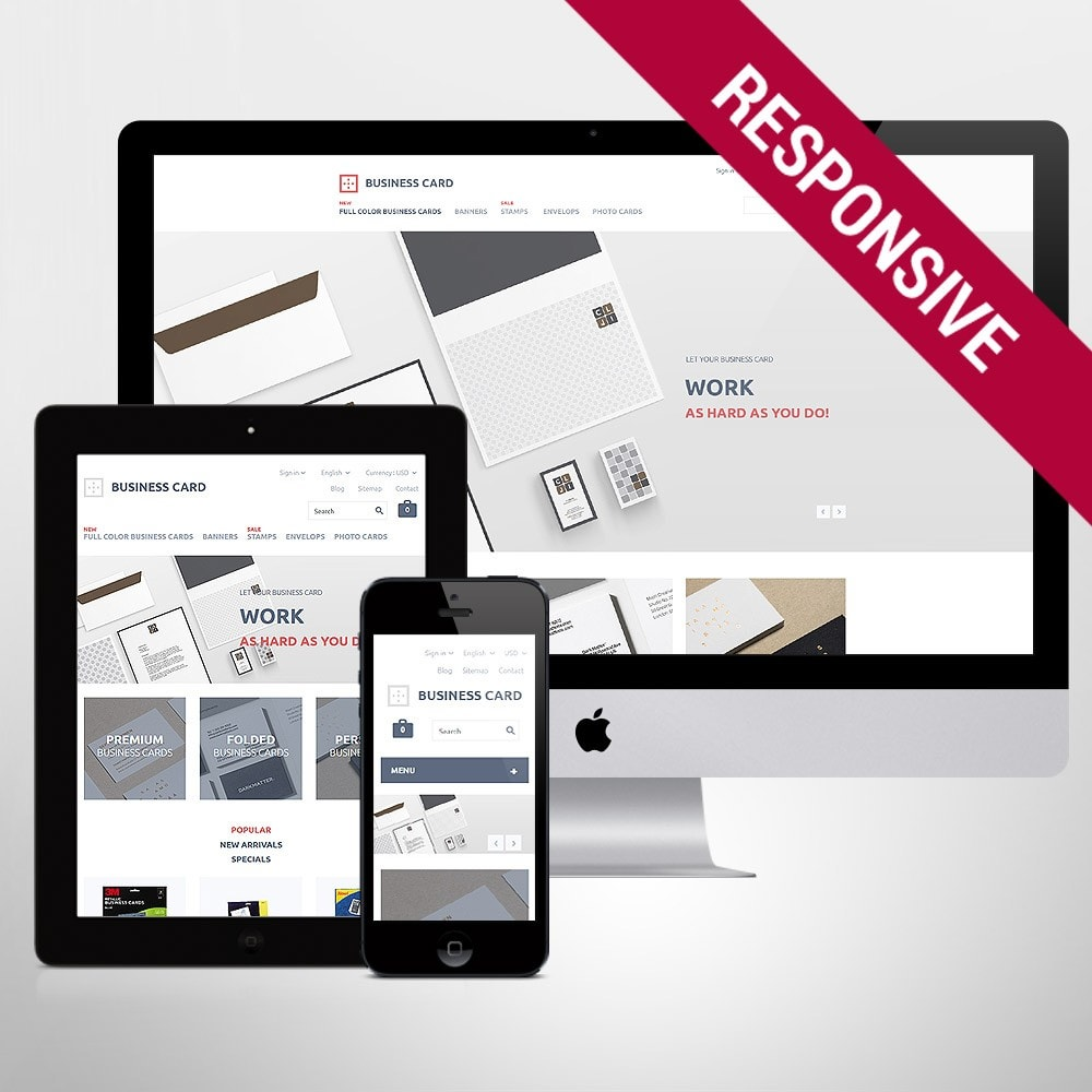 theme - PrestaShop Templates - Business Card - 1