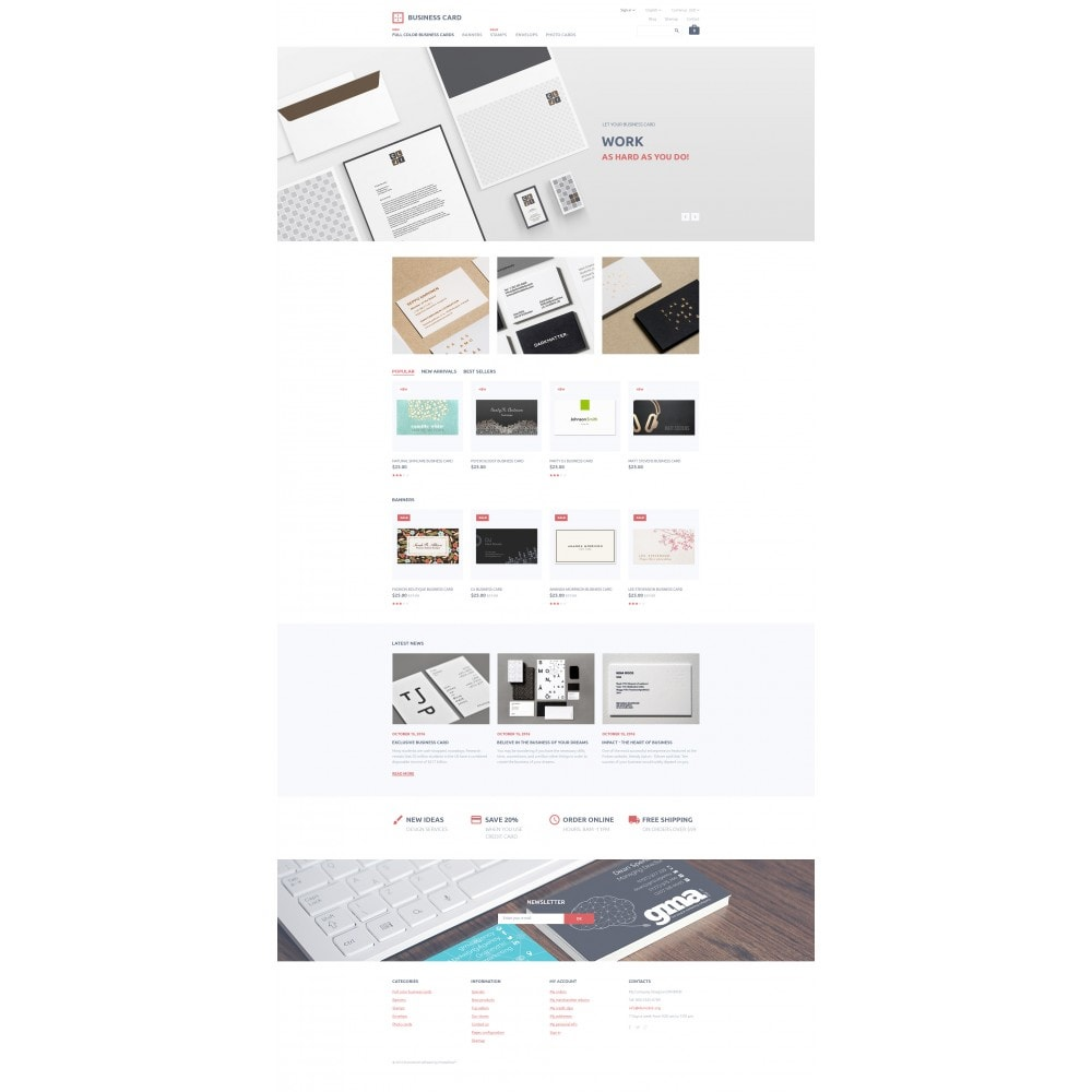 theme - Template PrestaShop - Business Card - 4