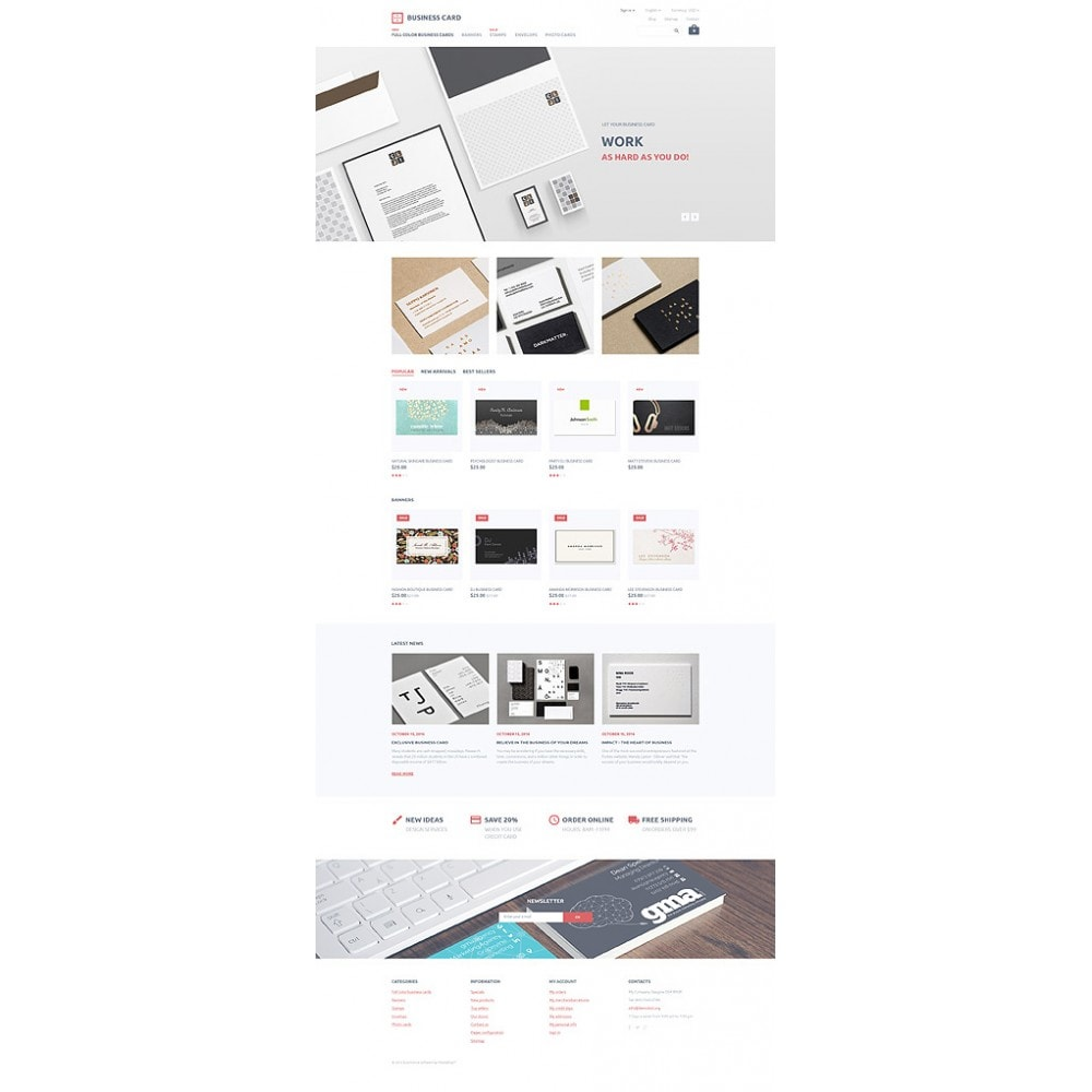 theme - Template PrestaShop - Business Card - 10