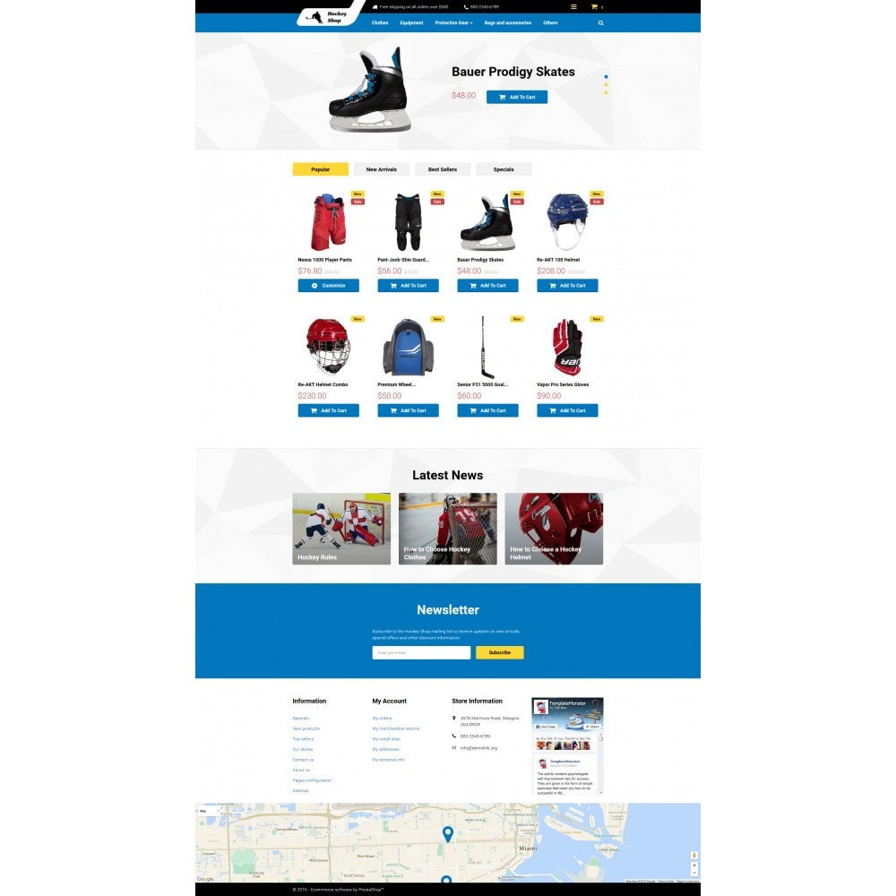 theme - Sports, Activities & Travel - Hockey Shop - 4