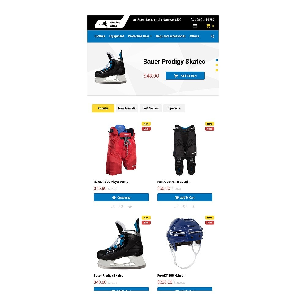 theme - Sports, Activities & Travel - Hockey Shop - 7