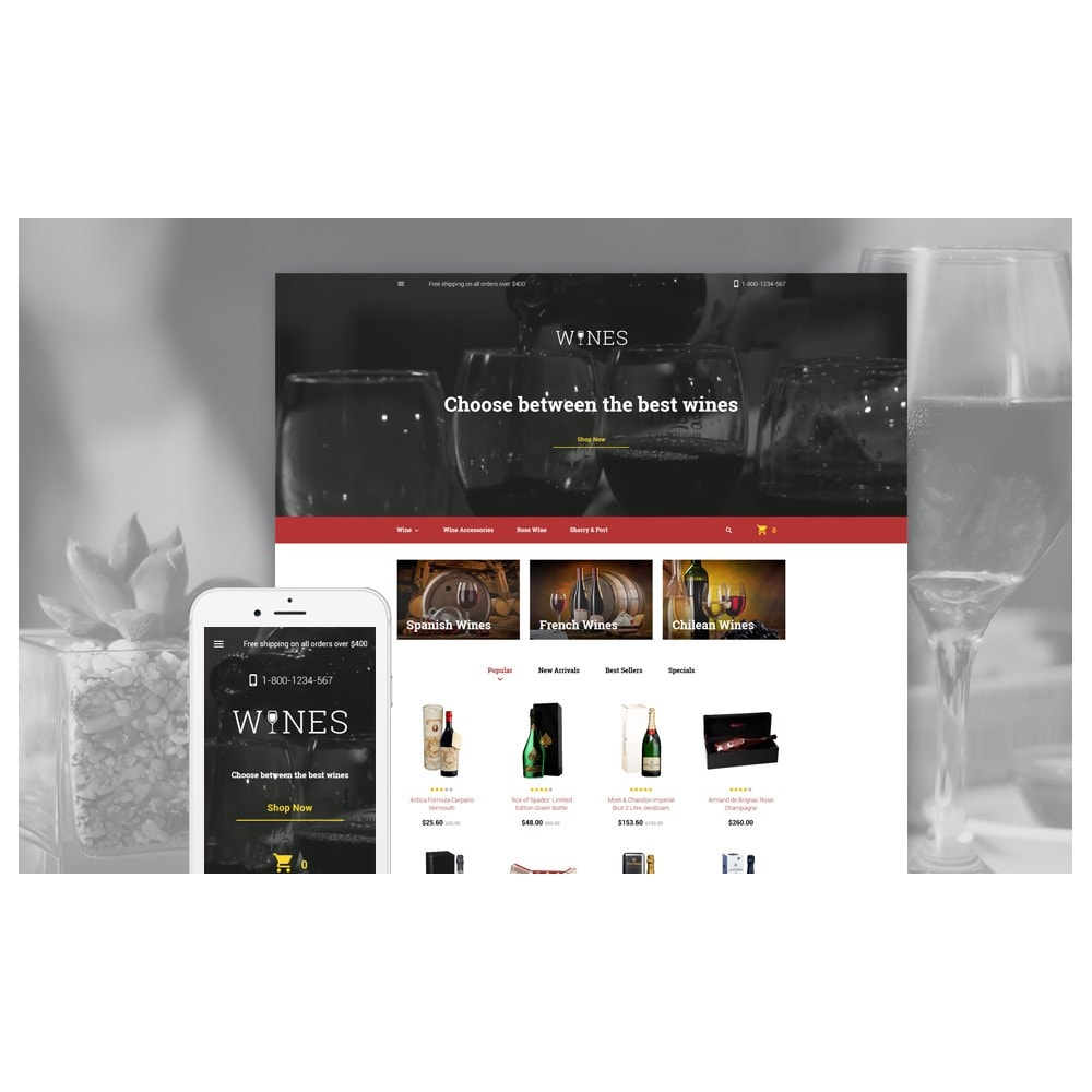 theme - Lebensmittel & Restaurants - Wines - 2
