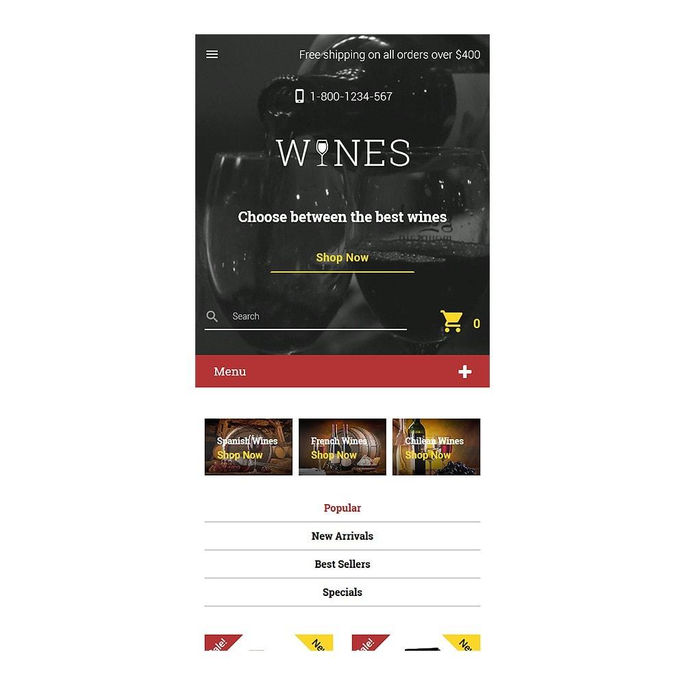 theme - Продовольствие и рестораны - Wines - Wine Template - 8