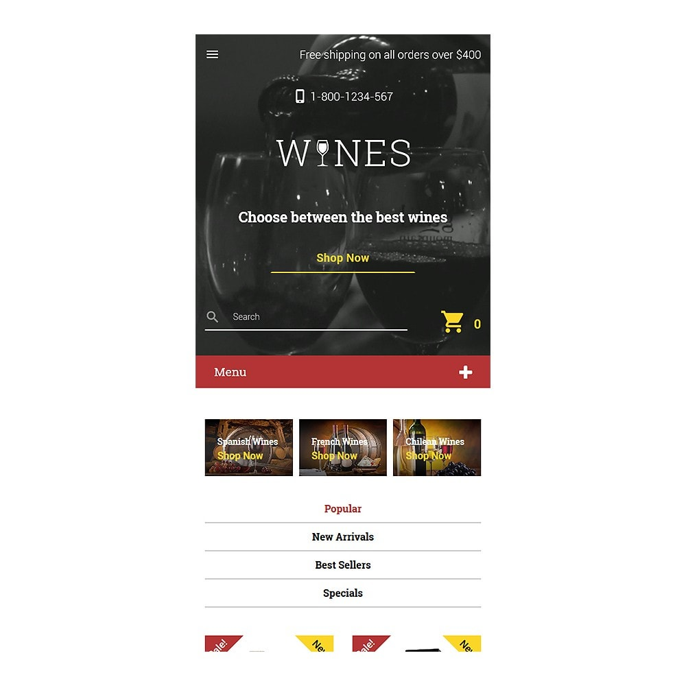 theme - Alimentation & Restauration - Wines - 8