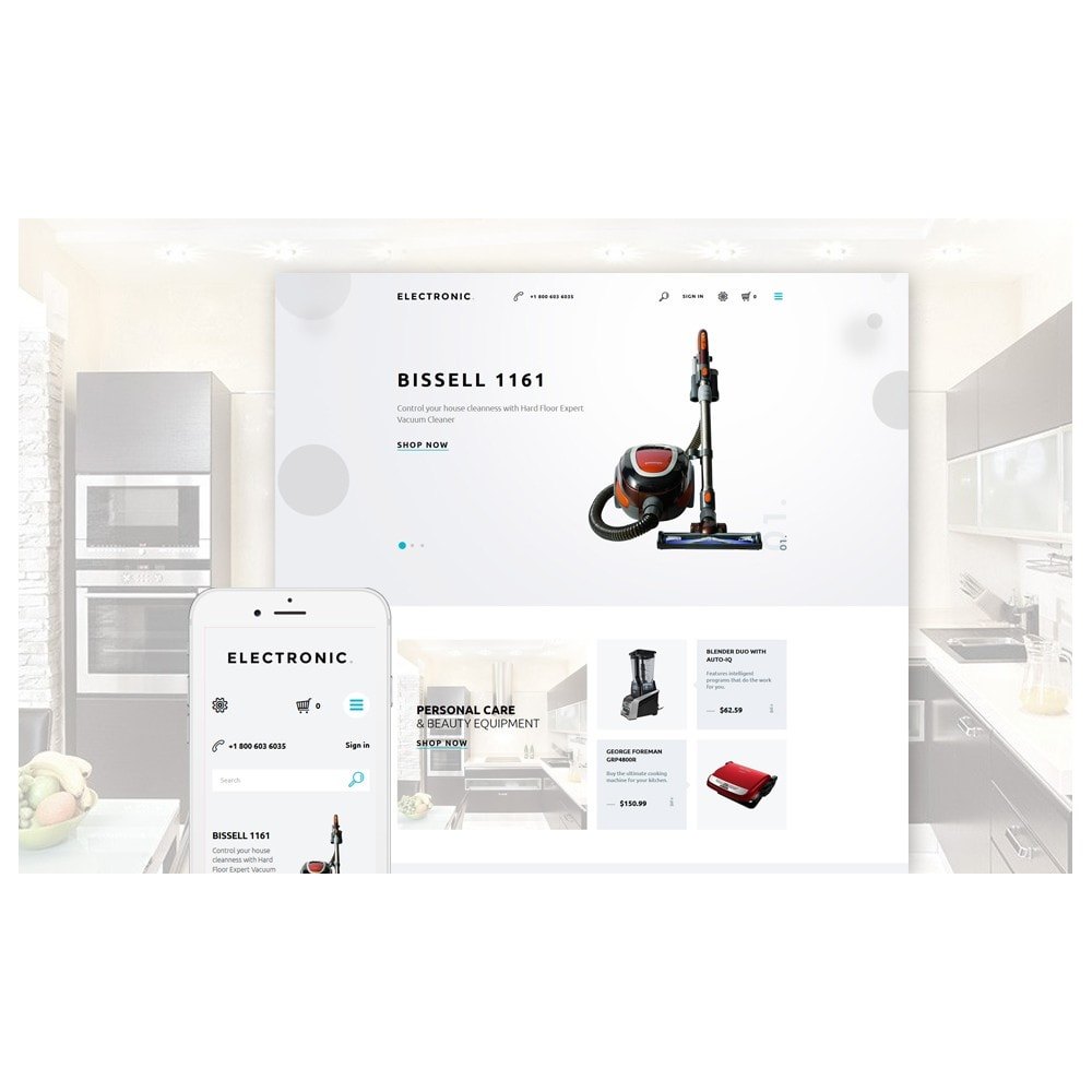 theme - Elektronika & High Tech - White Electronics Store PrestaShop Theme by ArtVertex - 2