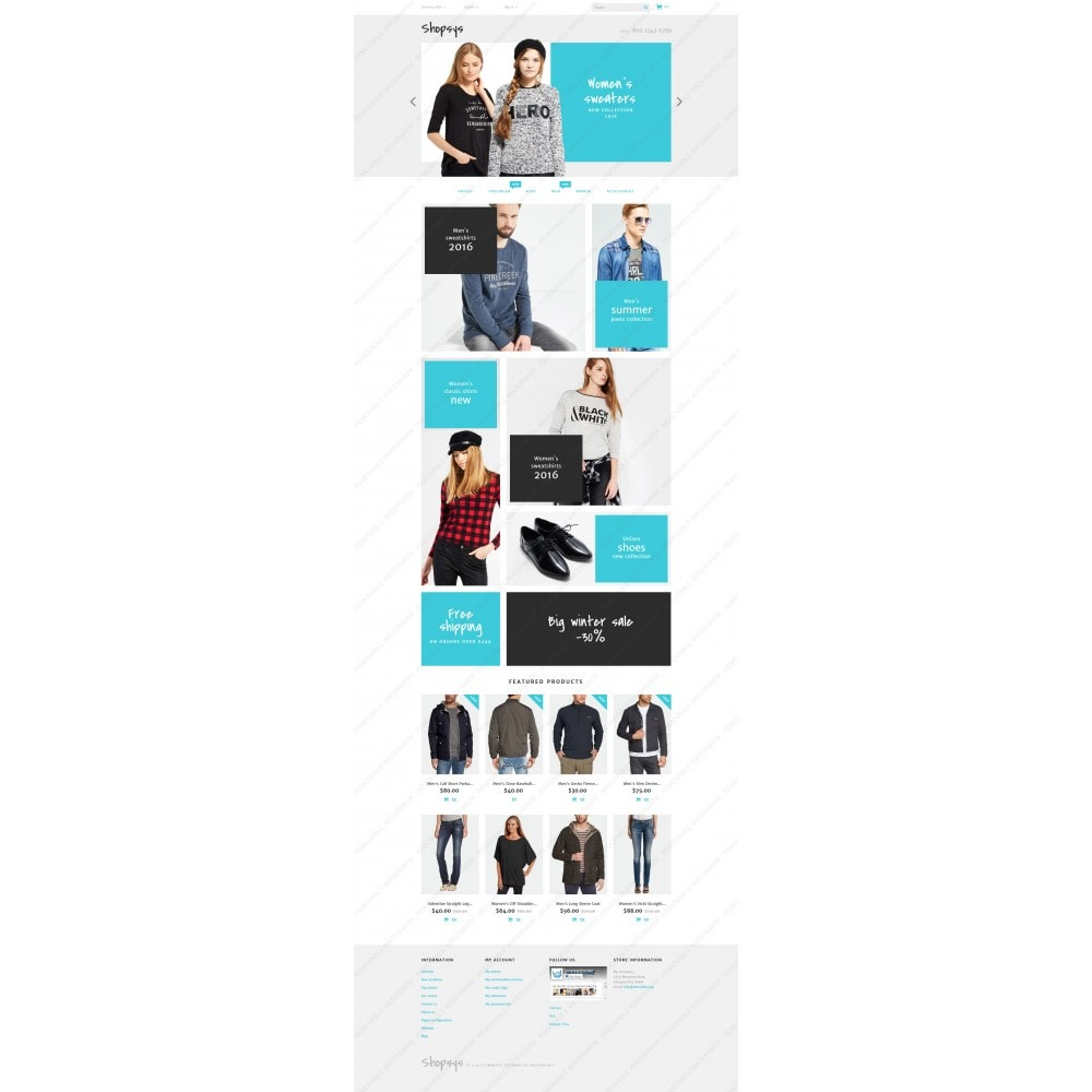 theme - Мода и обувь - Shopsys - Trendy Clothes - 3