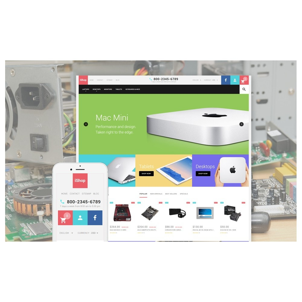 theme - Elektronika & High Tech - White Computer Store PrestaShop Theme by ArtVertex - 2