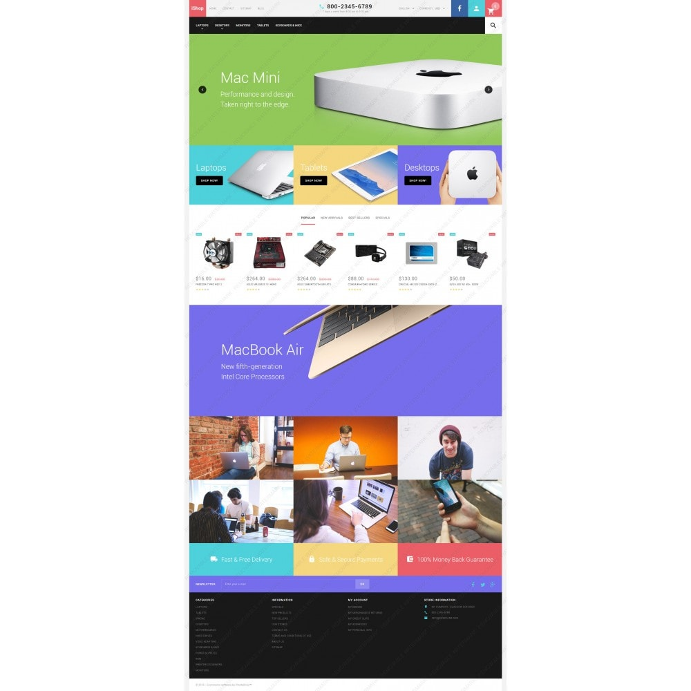 theme - Elettronica & High Tech - White Computer Store PrestaShop Theme by ArtVertex - 5