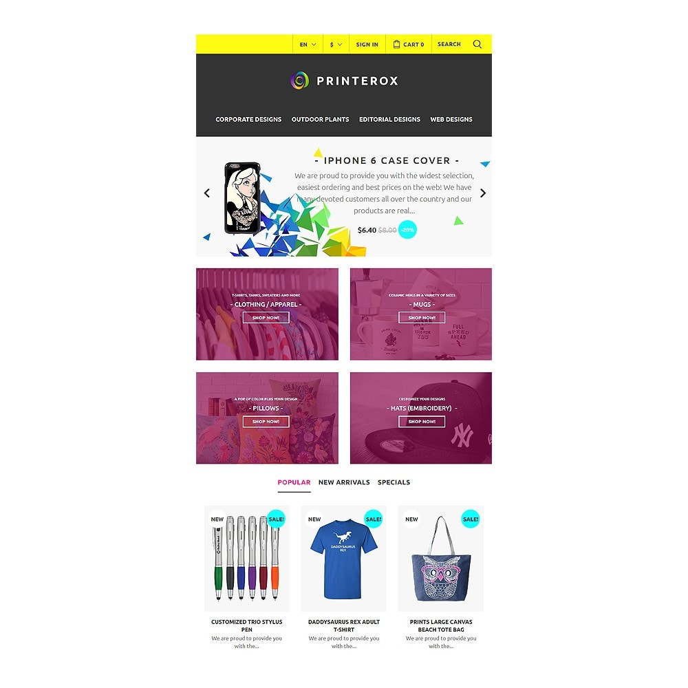 theme - Art & Culture - Printerox Design Responsive - 8