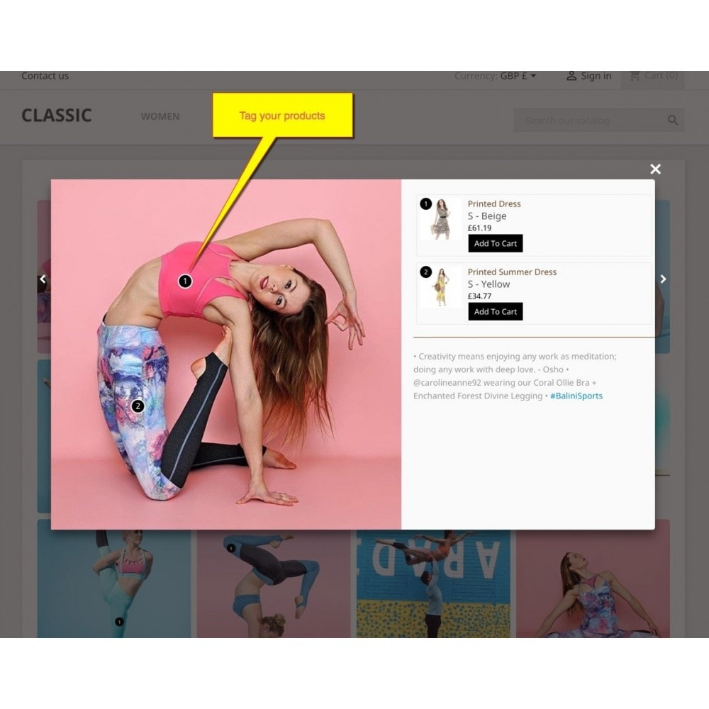 module - Sliders & Galleries - Shoppable Gallery -Customer shoppable on social gallery - 4