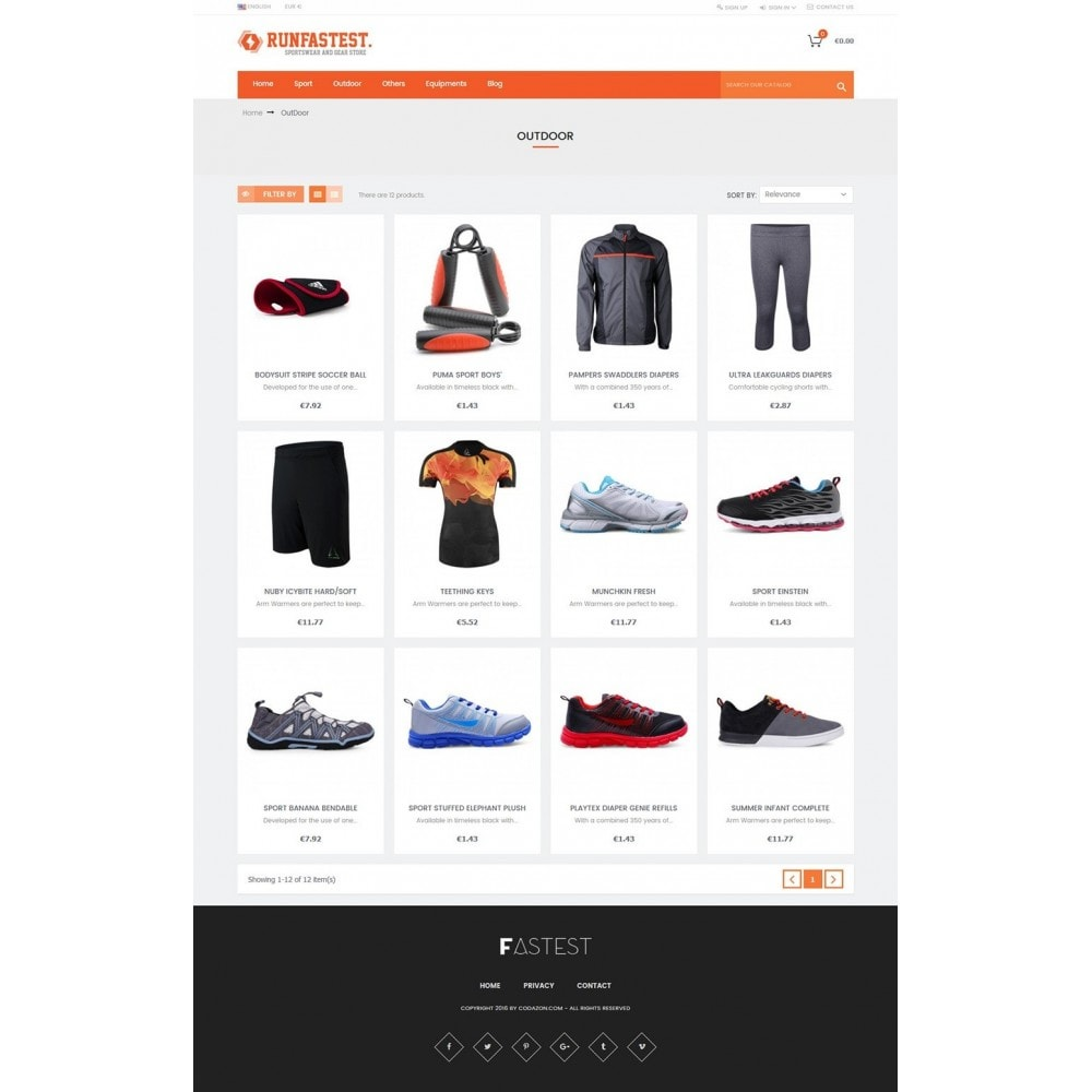 theme - Sport, Loisirs & Voyage - Sports,Activities,Travel,Gear - smart responsive - 4