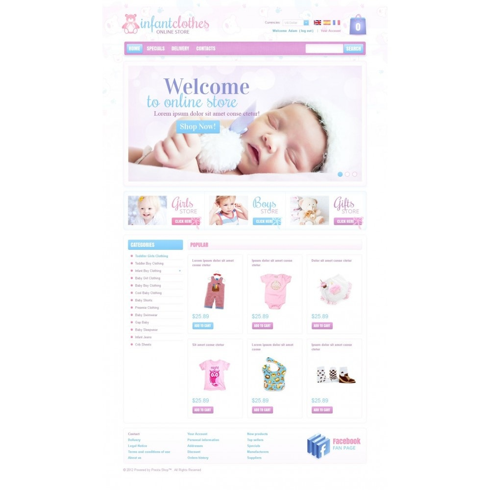 theme - Home & Garden - Infant Clothes - 5