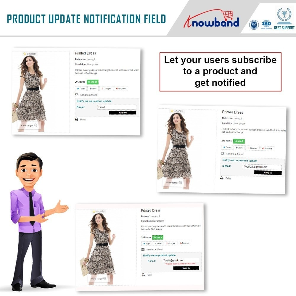 module - Emails & Notificaties - Knowband - Product Update Notification - 2
