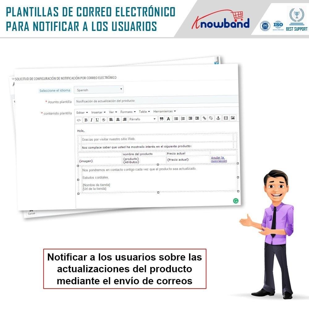 module - E-mails y Notificaciones - Knowband - Notificación de Actualización de Producto - 4