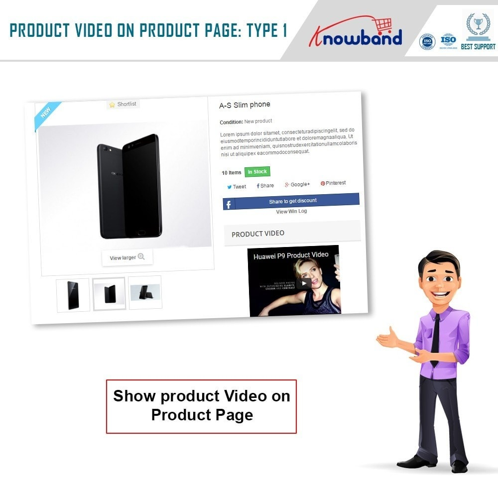 module - Video's & Muziek - Knowband - Product Videos (Youtube,Vimeo & Dailymotion) - 2
