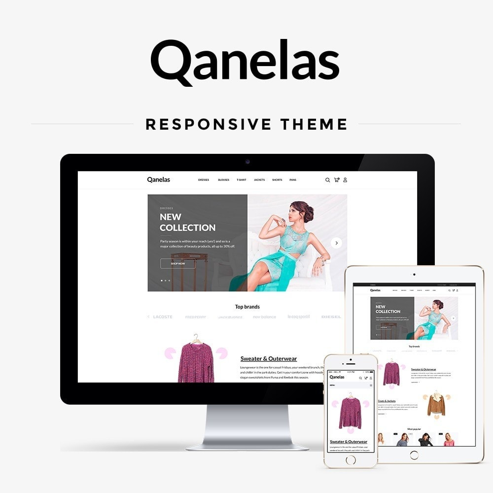 theme - Мода и обувь - Qanelas Fashion Store - 1