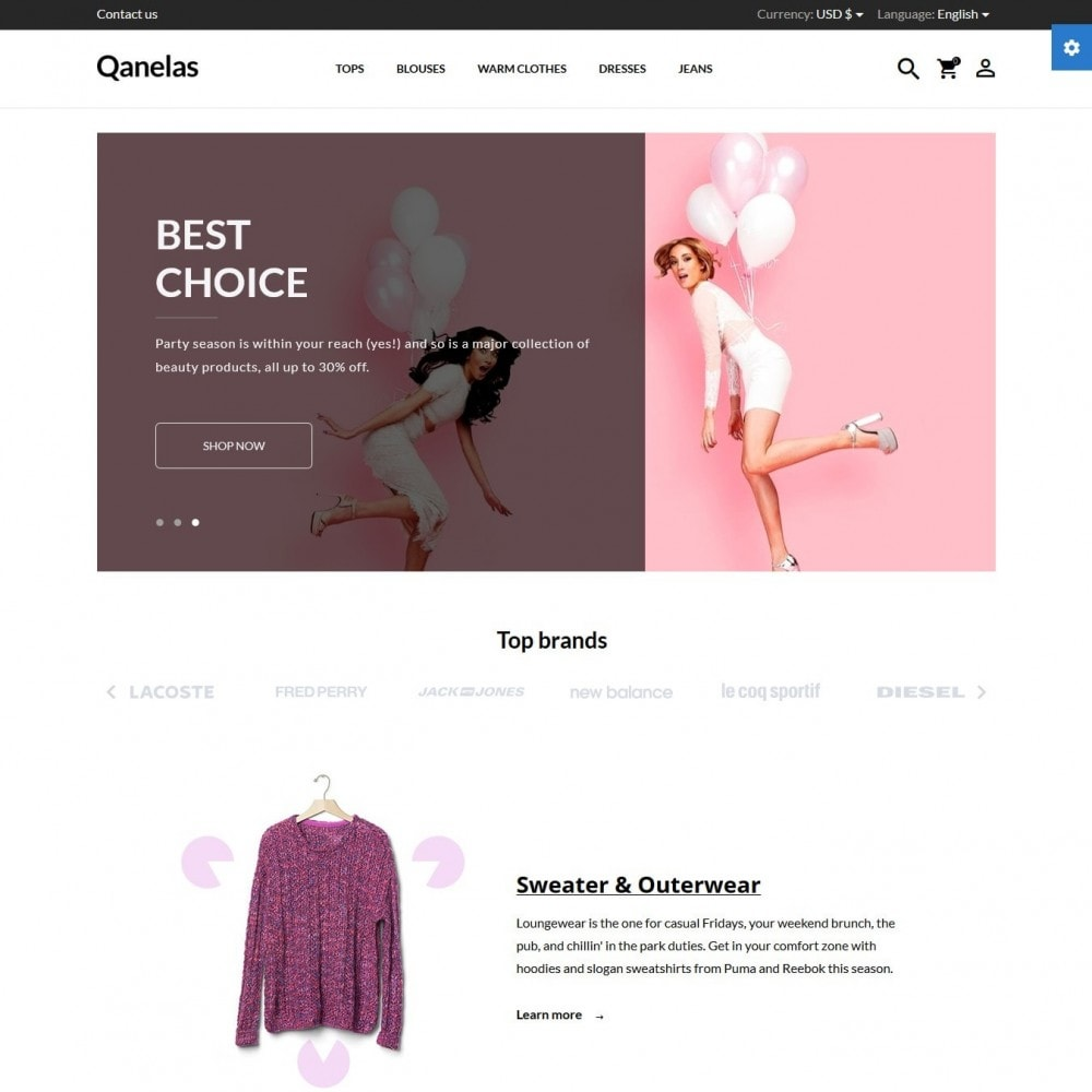 theme - Мода и обувь - Qanelas Fashion Store - 2