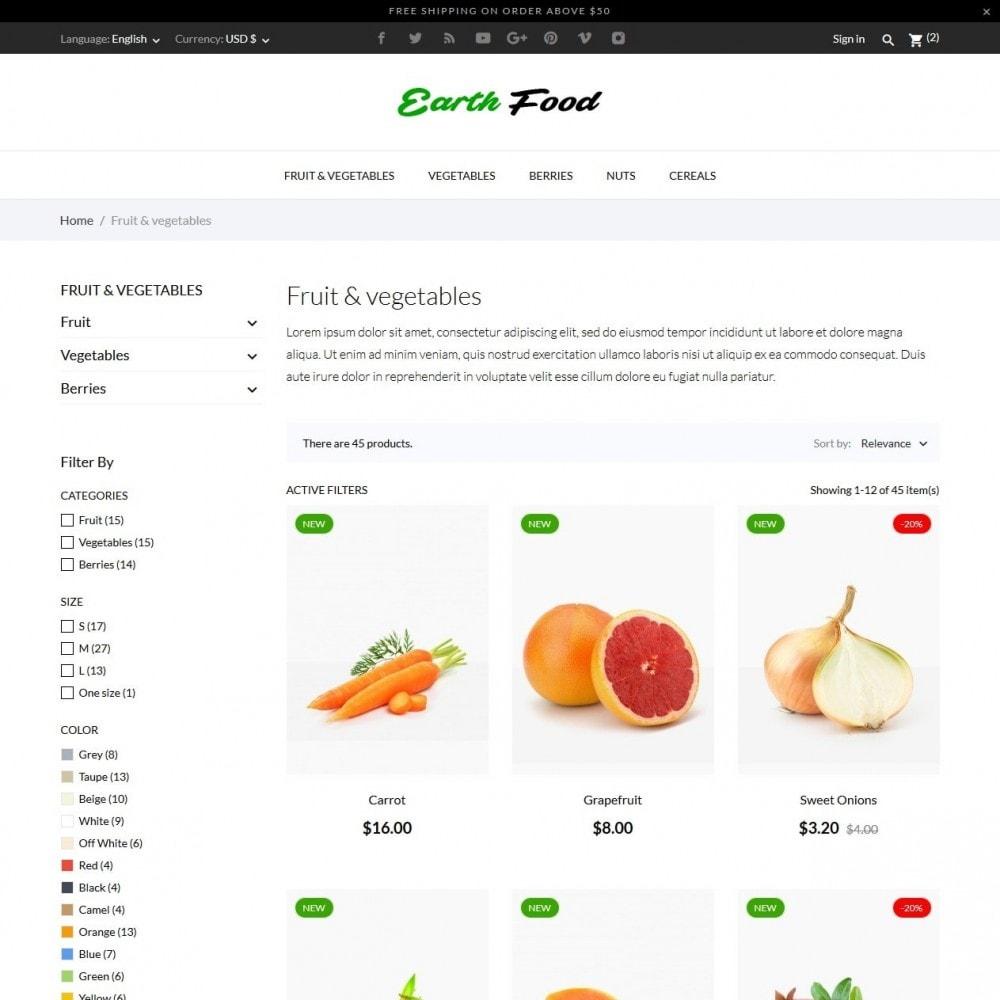 theme - Żywność & Restauracje - Earth Food - 4
