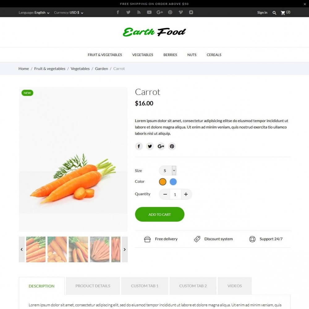 theme - Eten & Restaurant - Earth Food - 5