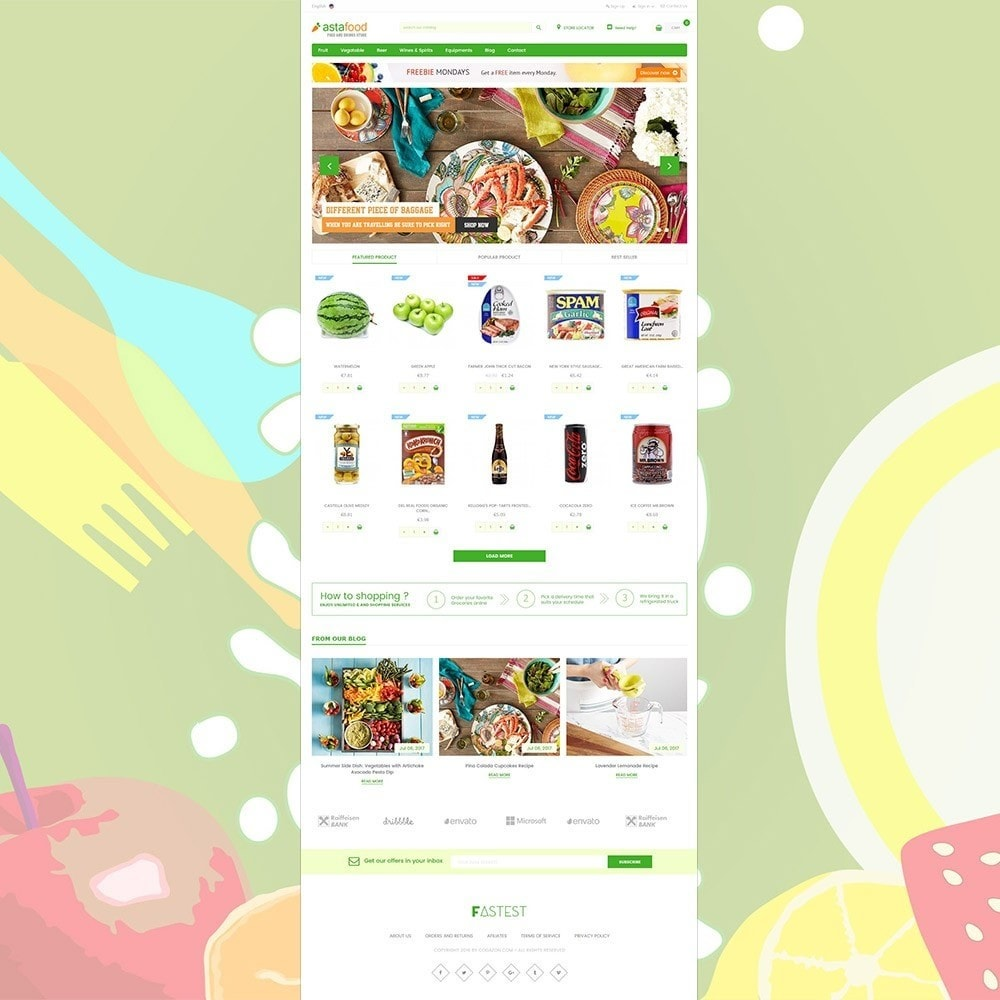 theme - Alimentation & Restauration - Grocery, Gourmet, Meat, Beverages, Food, Drinks Store - 2