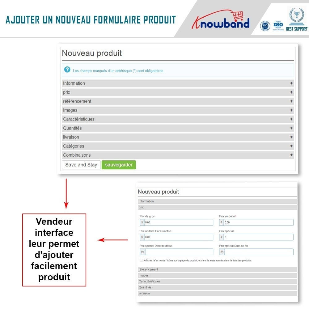 module - Création de Marketplace - Knowband - Multi Vendor Marketplace - 5